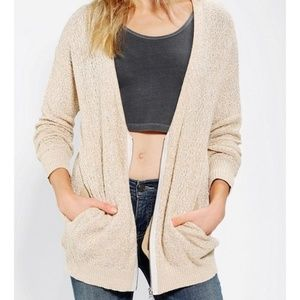 UO silence and noise oatmeal zip cardigan